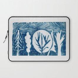 linocut trees print Laptop Sleeve