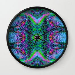 Techno Electric V (Ultraviolet) Wall Clock