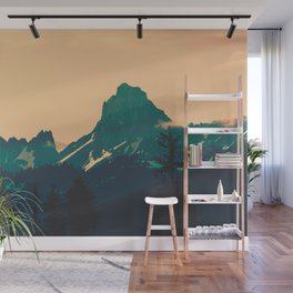 Cascade Mountains Sunset Wall Mural