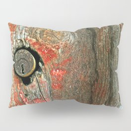 Weathered Wood Texture with Keyhole Pillow Sham