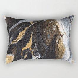 Golden Veined Marble Rectangular Pillow