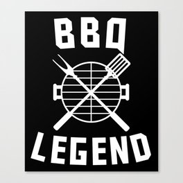 BBQ Legend Barbeque Spatula And Fork Grill Canvas Print