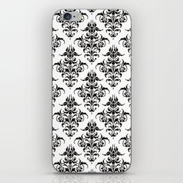 Damask Pattern | Black and White iPhone Skin