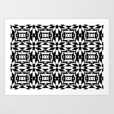 Black and White Tile Art Print
