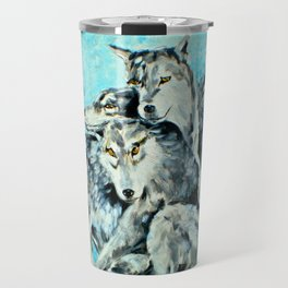 Our Brothers, the Wolves Travel Mug