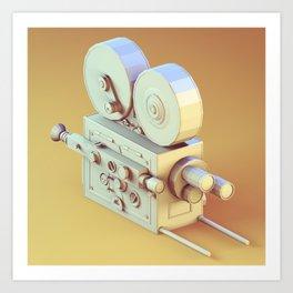 Low Poly Film Camera Art Print