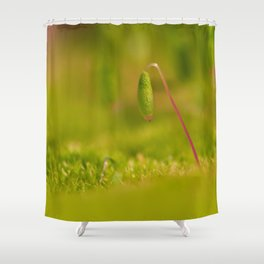 Moss germ, Alone in a green Land Shower Curtain