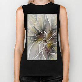 Floral Abstract, Fractal Art Biker Tank