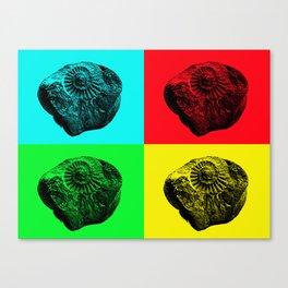 Pop Art Fossil Canvas Print
