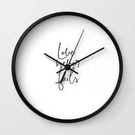 Love Never Fails, Love Art, Love Quote Wall Clock
