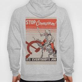 Vintage poster - Stop Communism Hoody