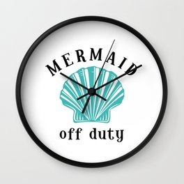 Off Duty Mermaid Wall Clock