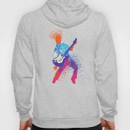 Abstract Art Rock and Roll Music Note Guitarist Gift Hoody