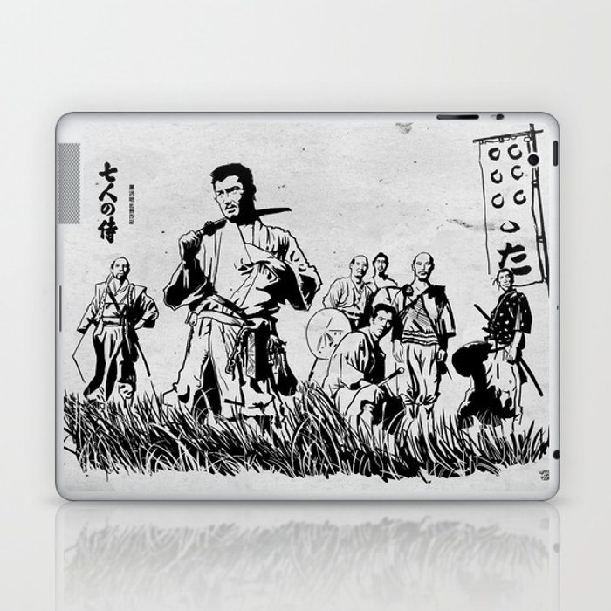 Seven Samurai Laptop & iPad Skin