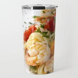 Spaghetti pasta with prawns Travel Mug