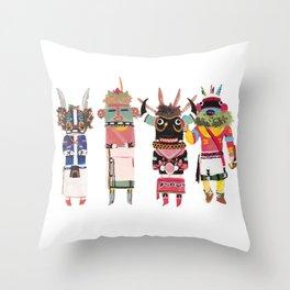 Kachinas Throw Pillow