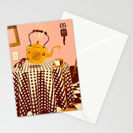 ORANGE TEA SPILL Stationery Cards