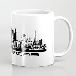 Las Vegas skyline black Coffee Mug