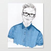tyler oakley Canvas Prints featuring Tyler Oakley by Sophie Melissa