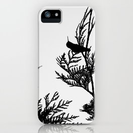 the thoughtful hummingbird iPhone Case