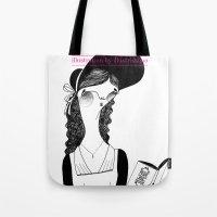 pride and prejudice Tote Bags featuring Pride & Prejudice /// by illustrissima by illustrissima