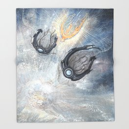 Starships Derelict Space Throw Blanket