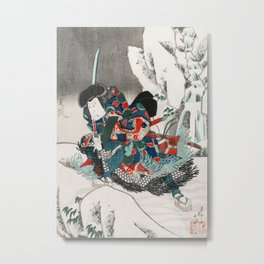 Warrior in the Snow Metal Print