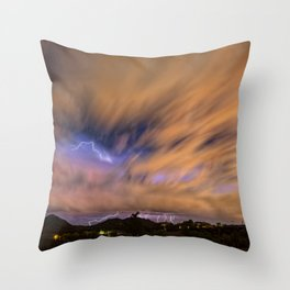 Distant Veiled Echos of the Night Throw Pillow