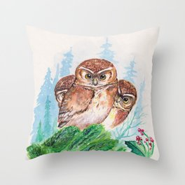 Owlets Throw Pillow