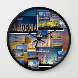 California POSTCARD HD by JC LOGAN 4 Simply Blessed Wall Clock