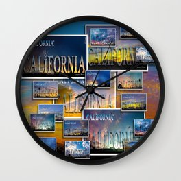California POSTCARD HD by JC LOGAN 4 Simply Blessed Wall Clock