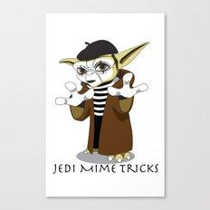 Jedi Mime Tricks Canvas Print