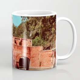 Ponte Rosso: a bridge over a canal running to the sea Coffee Mug
