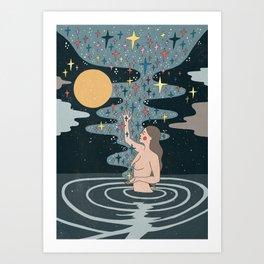 Full Moon blessings Art Print