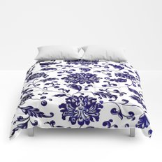 Chinese Floral Pattern Comforters