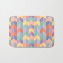 Colorful geometric blocks Bath Mat