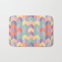 Colorful geometric blocks Bath Mat