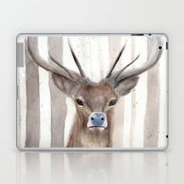 """Watercolor Painting of Picture """"Deer in Winter Forest"""" Laptop & iPad Skin"""