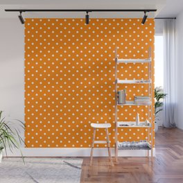 Dots (White/Orange) Wall Mural