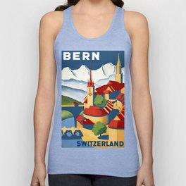 Vintage Bern Switzerland Travel Unisex Tank Top