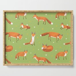 Red Foxes Serving Tray