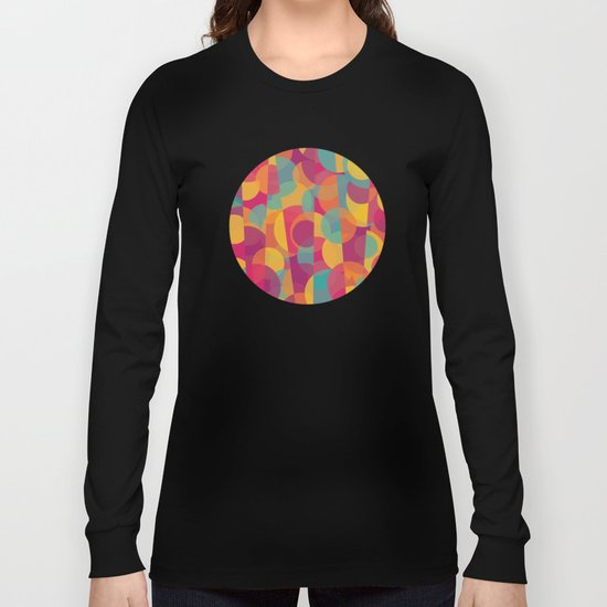 Abstract Circle Pattern - Colorful Dream Long Sleeve T-shirt