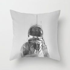 The Space Beyond B&W Astronaut Throw Pillow