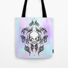 Alien Tribal Tattoo Tote Bag