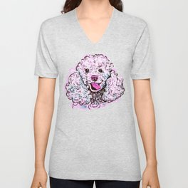 The happy Poodle Love of My Life Unisex V-Neck