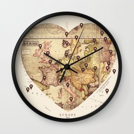 Love to Travel Wall Clock