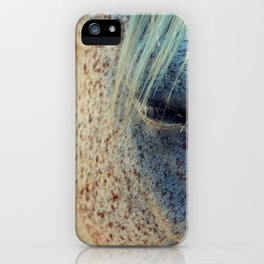 Horse Eye Photography Print iPhone Case