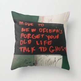 New Orleans Ghost Stories Throw Pillow