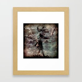 Inner Demon Framed Art Print