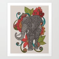 ruby Art Prints featuring Ruby by Valentina Harper